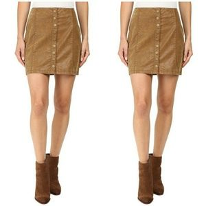 Free People Oh Snap Faux Leather Skirt | Sz 6